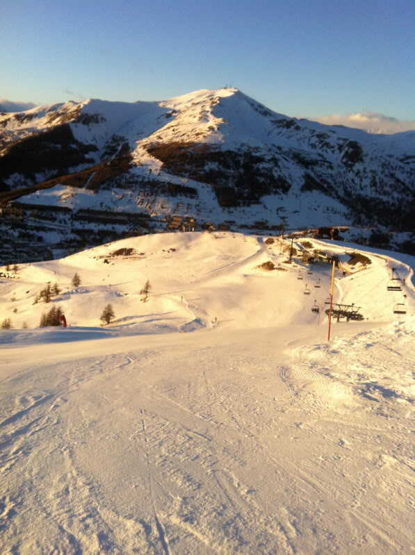 black run in Sestriere
