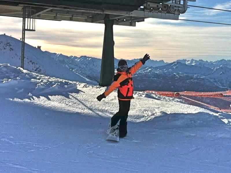 snowboarding in Sestriere