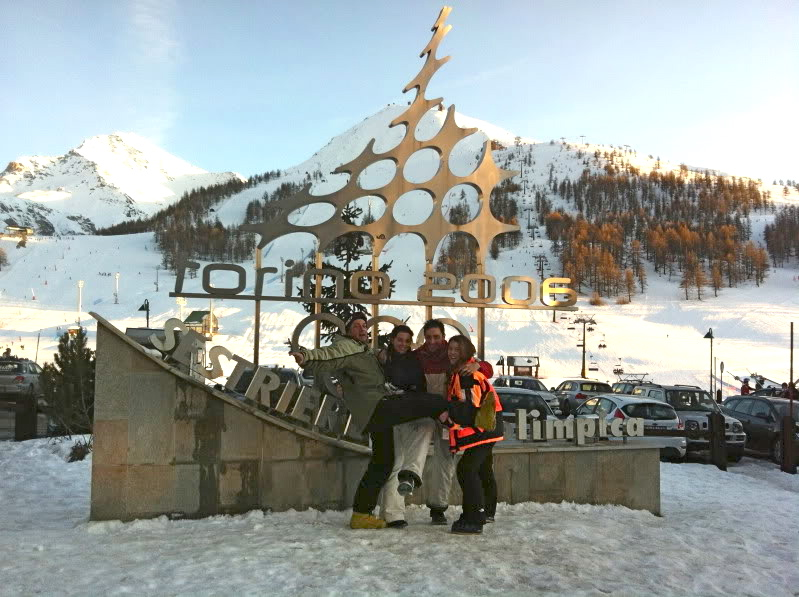 Olympic sign in Sestriere