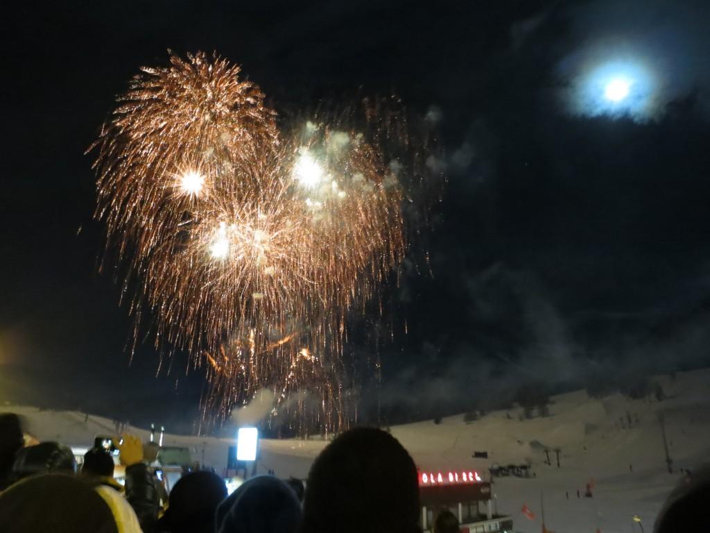 fireworks in Sestriere