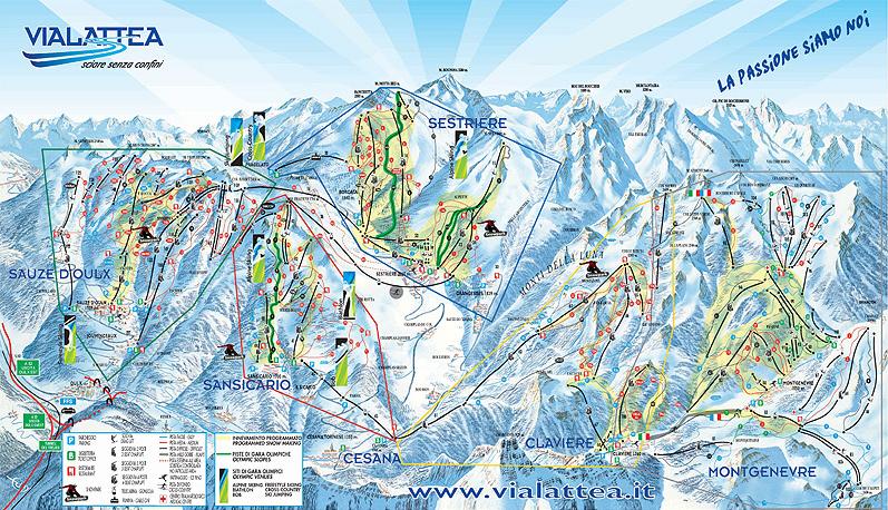 map of Vialattea