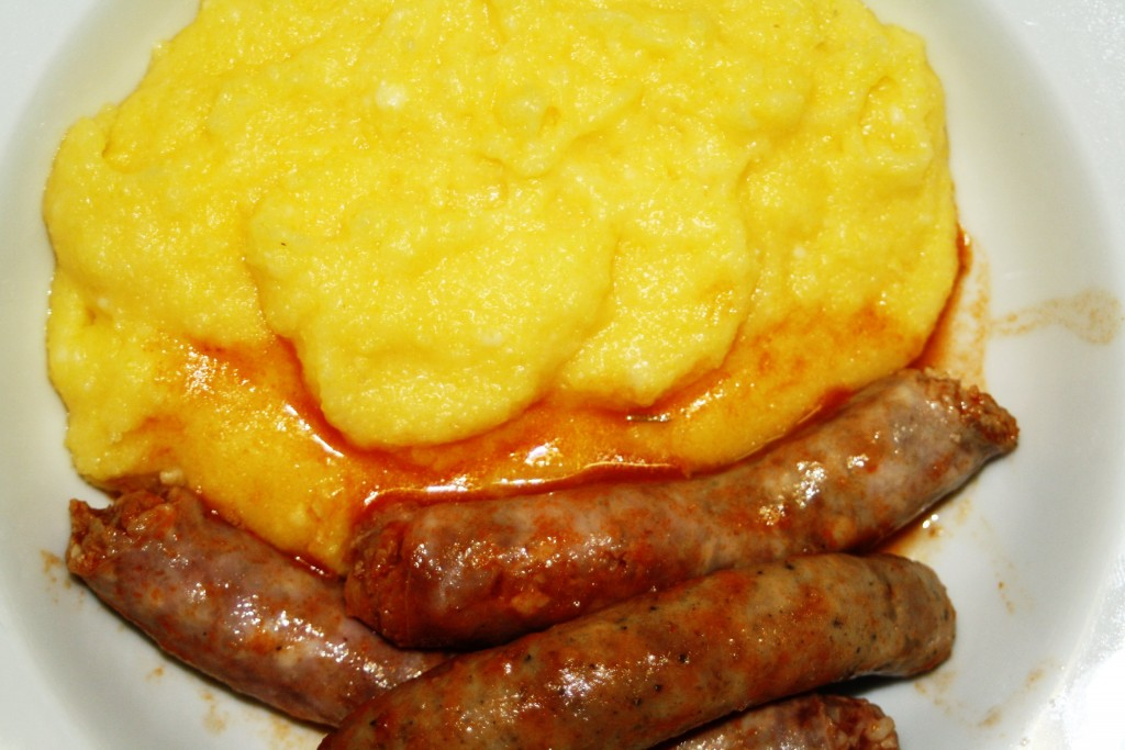 Polenta and sausages