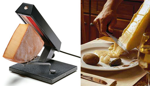 Raclette cheese in Italy