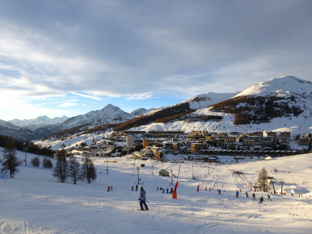 Skiing The Alps in Sestriere Italy