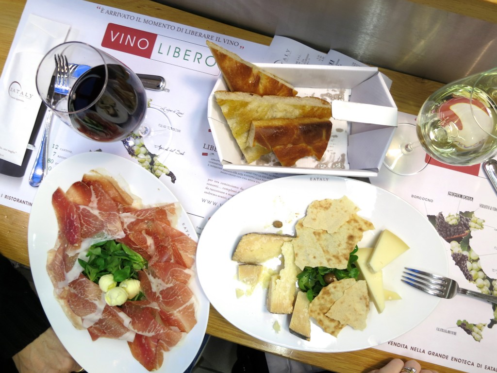 Eating at Eataly in Turin Italy