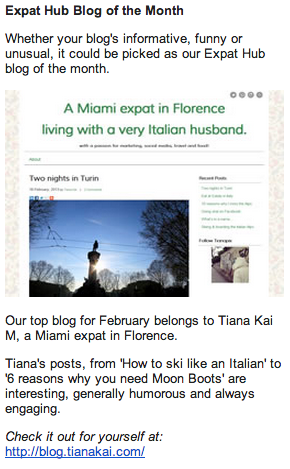 Blog of the month