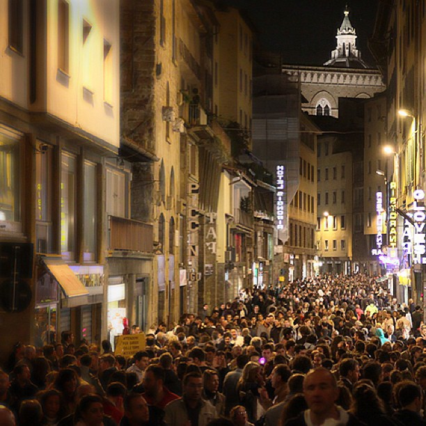 Notte Bianca downtown Florence