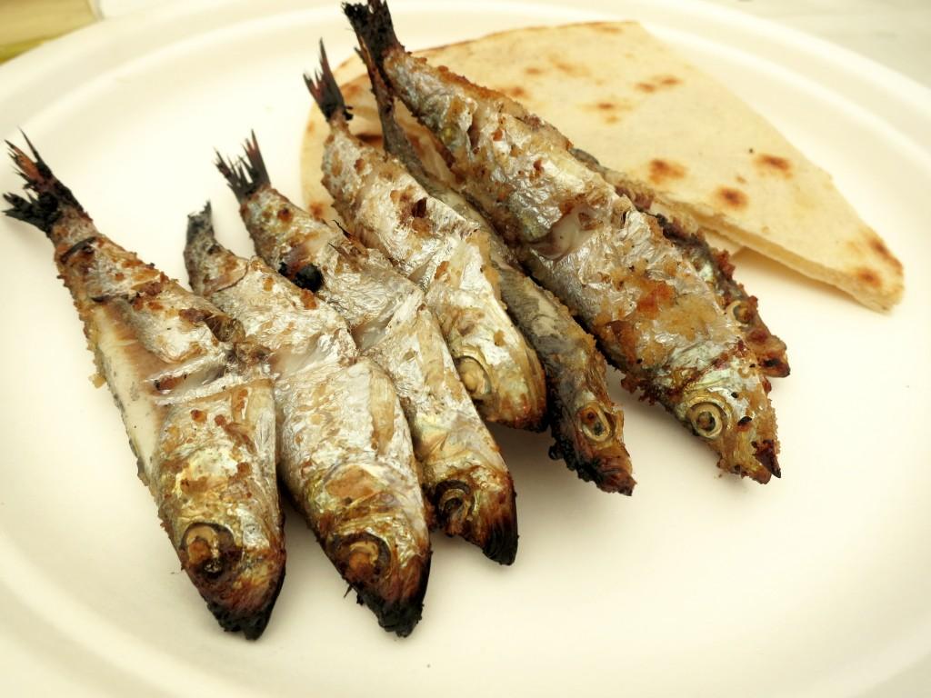 Mmmm Sardines in Cesenatico!