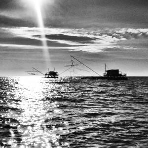 Fishermen off Pisa