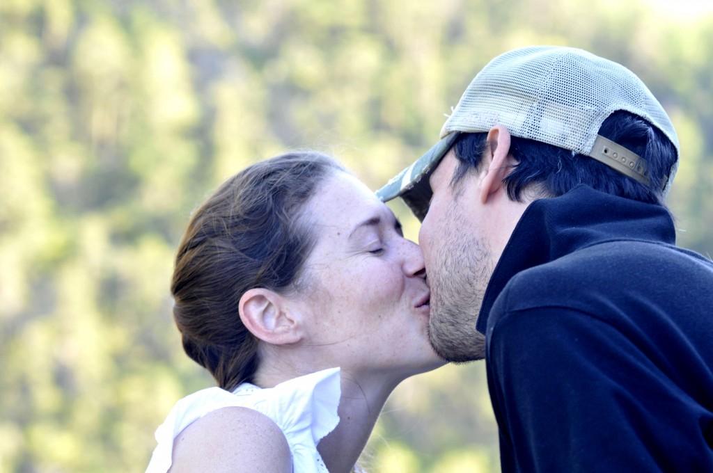 A kiss goodbye