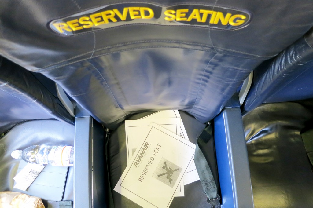 Ryanair's reserved seats