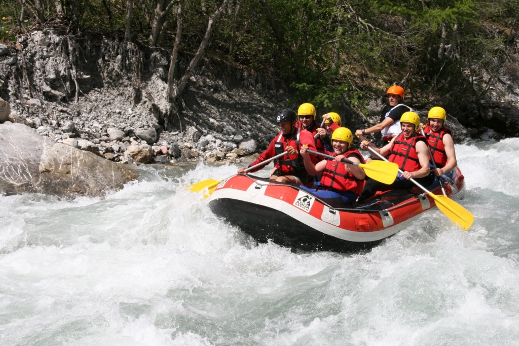White water rafting in Briançon, France