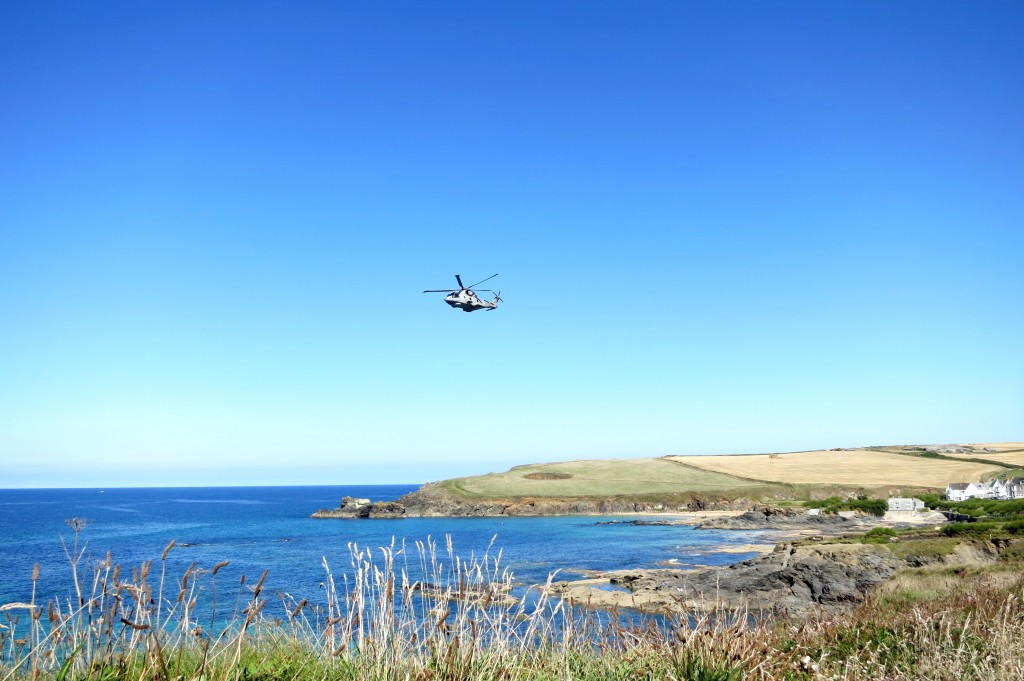 heli over Cornwall
