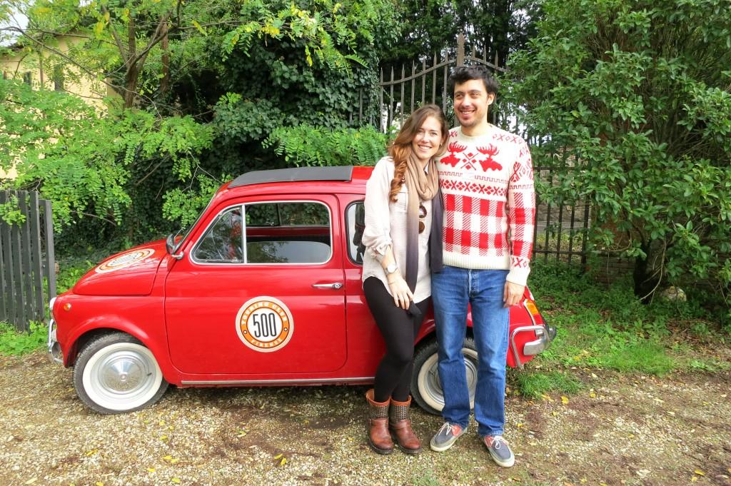 Italians driving a Fiat