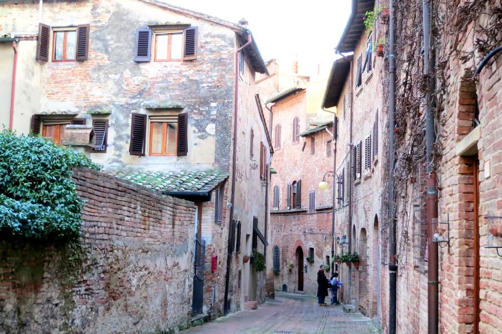 Certaldo Alto streets in Tuscany