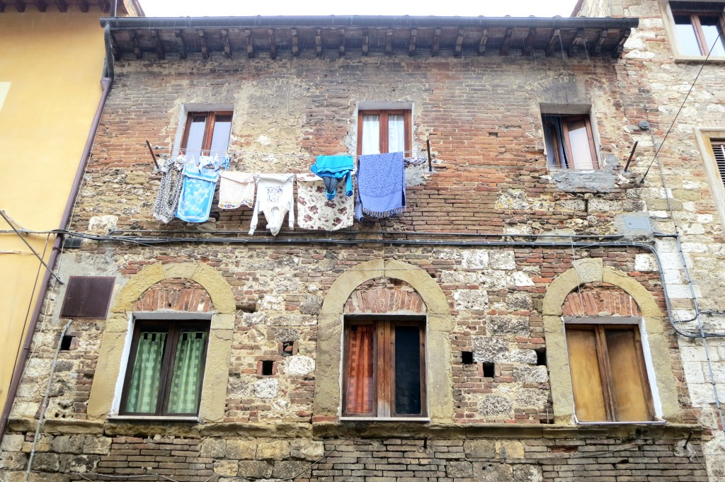 Laundry in Colle Val d'Elsa, Tuscany