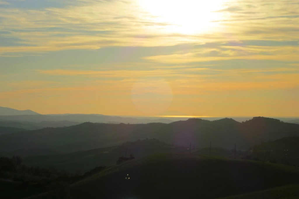 Sunset in Maremma Tuscany