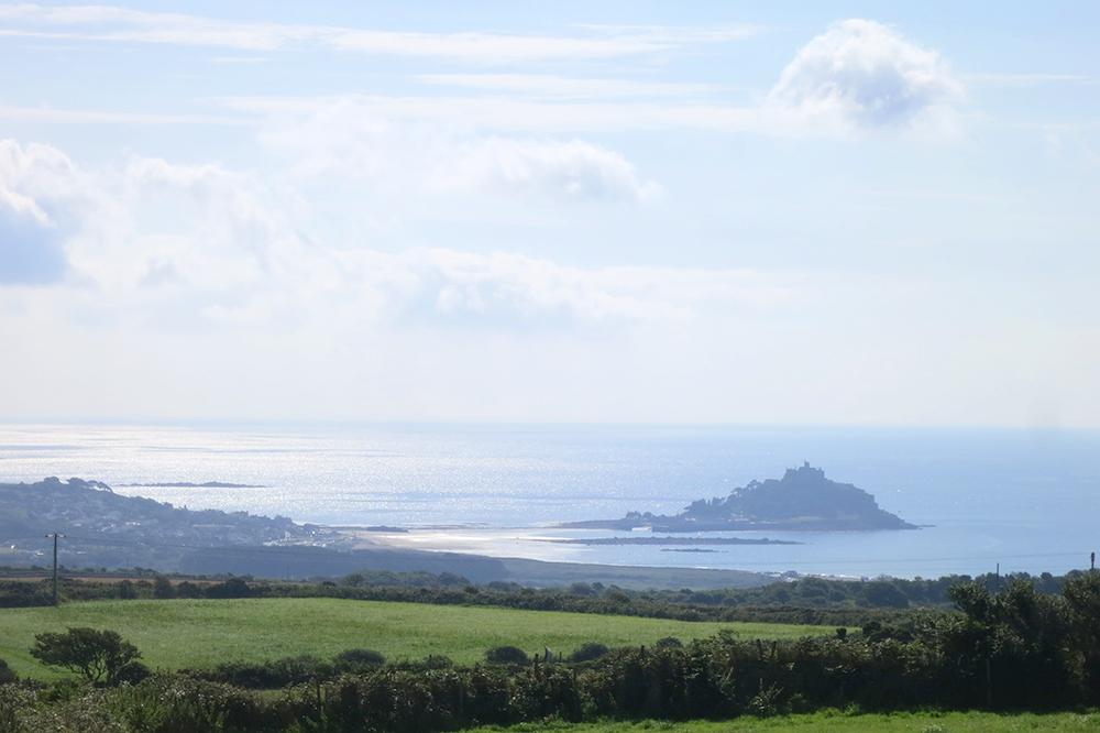 Driving to St. Michael's Mount