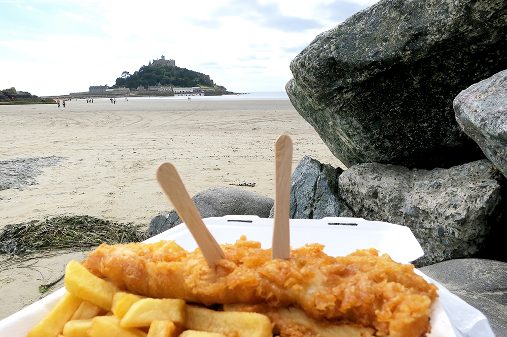 Fish and Chips in Penzance