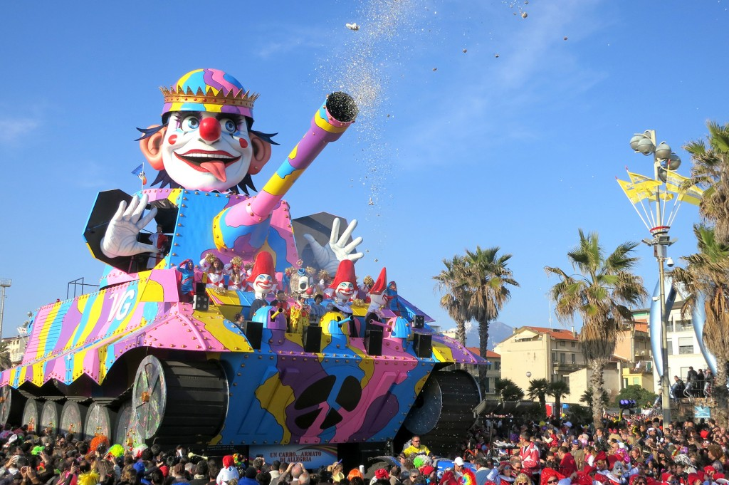 Carnival float in Viareggio