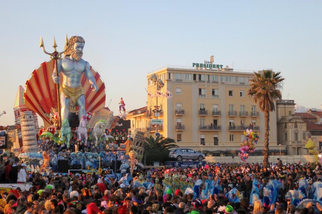 Carnival in Viareggio floats