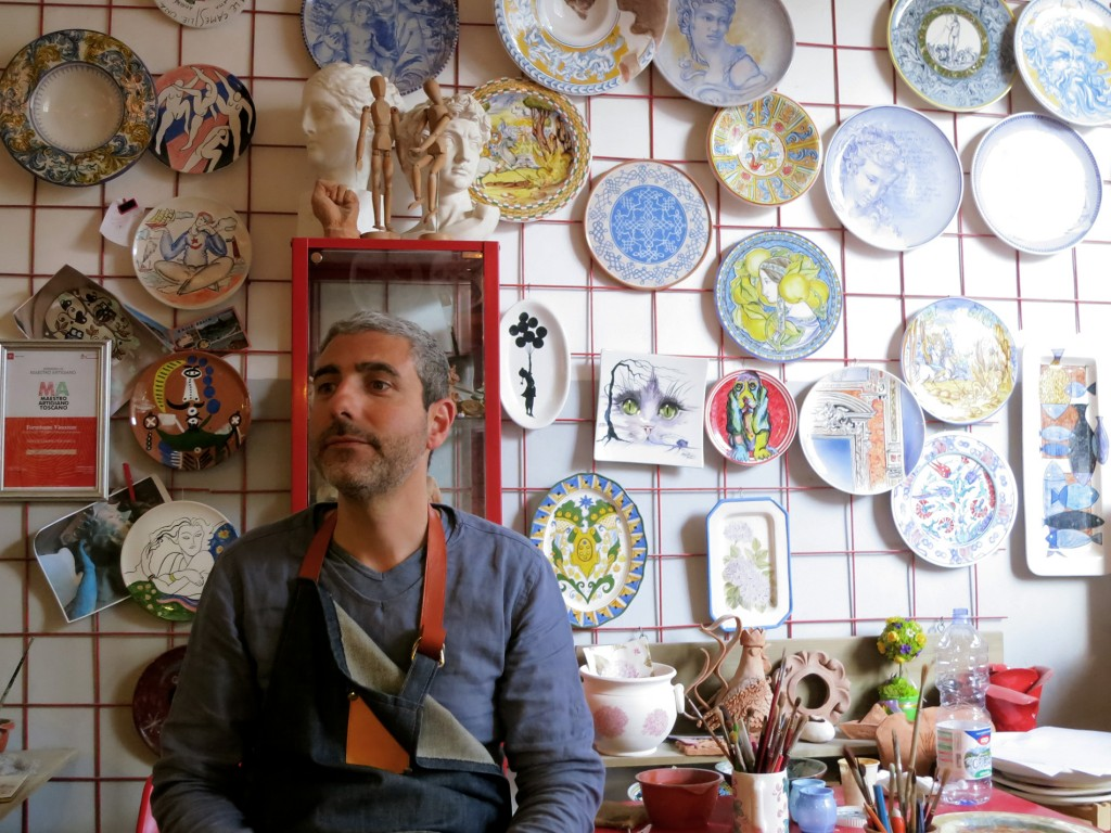 Enzo, the Pottery Painting Maestro in Florence