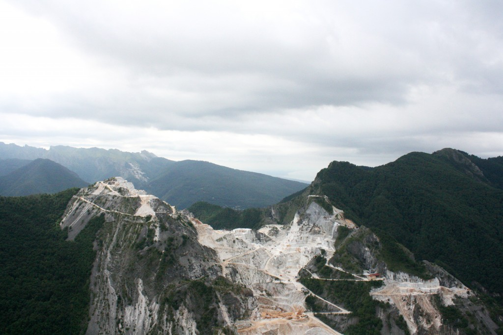 Apuan Alps in Carrara Tuscany