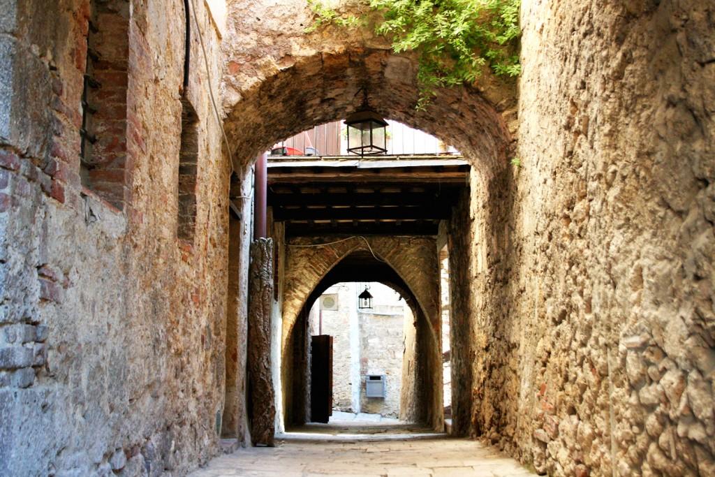 Massa Marittima Tuscany archways
