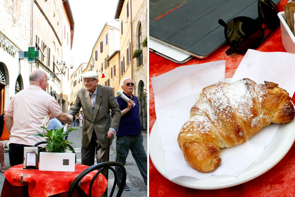 Breakfast in Massa Marittima Tuscany