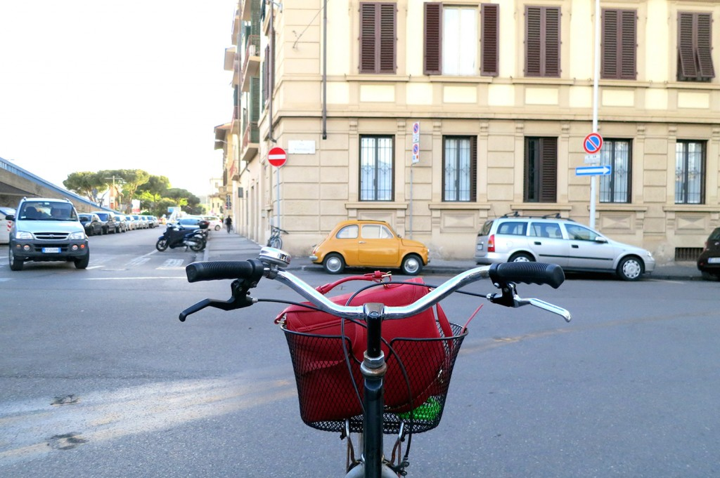 Riding a bike in Italy