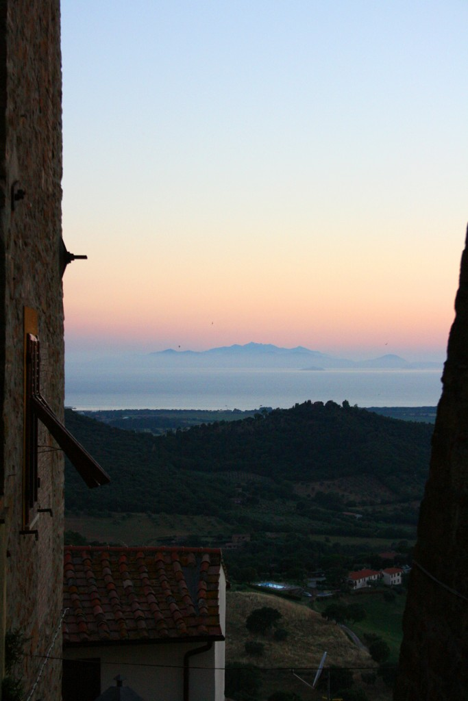 Seaside views from Scarlino Maremma