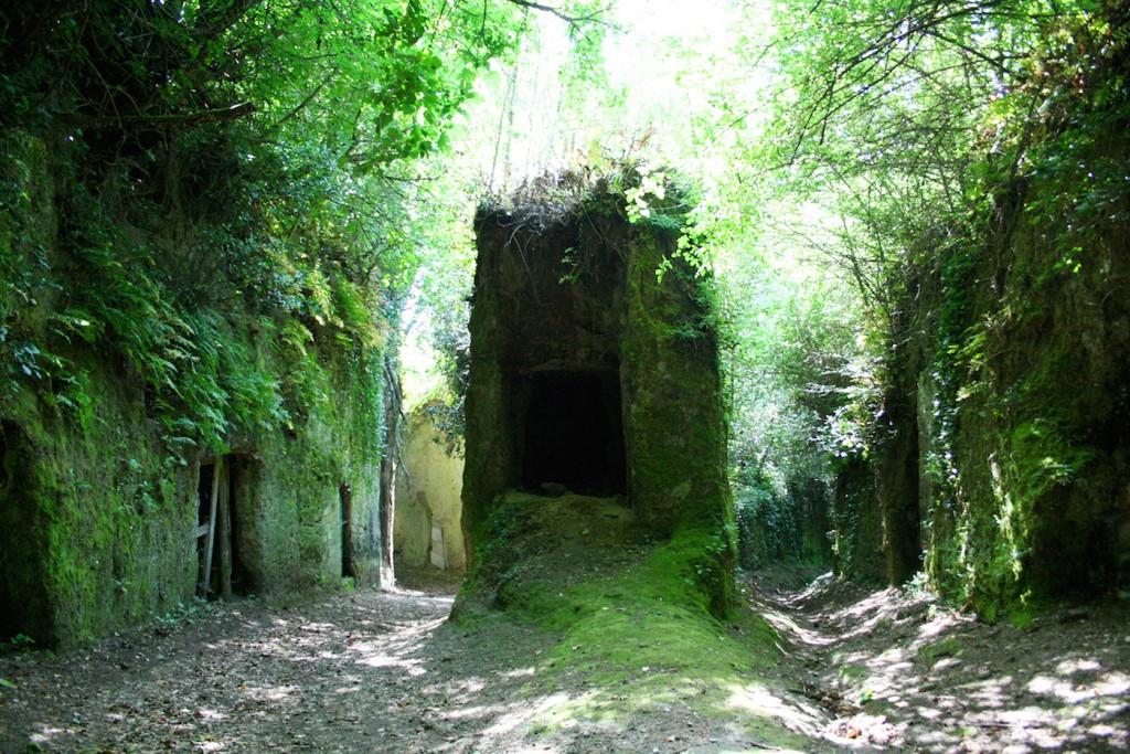 Etruscan site in Pitigliano