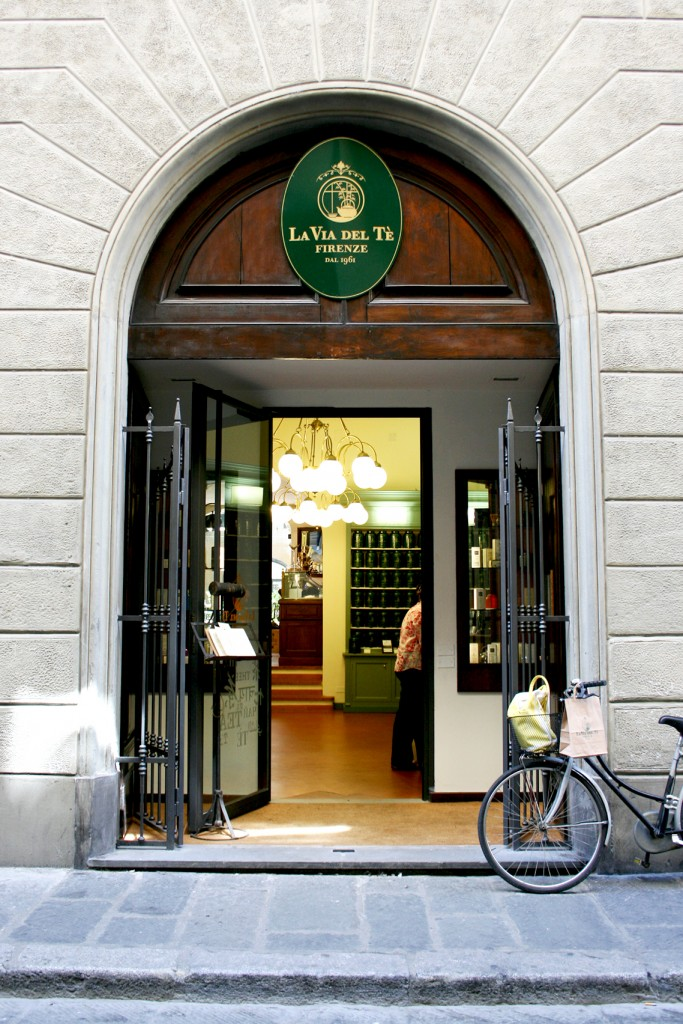 La Via Del Tè tea shop in Florence