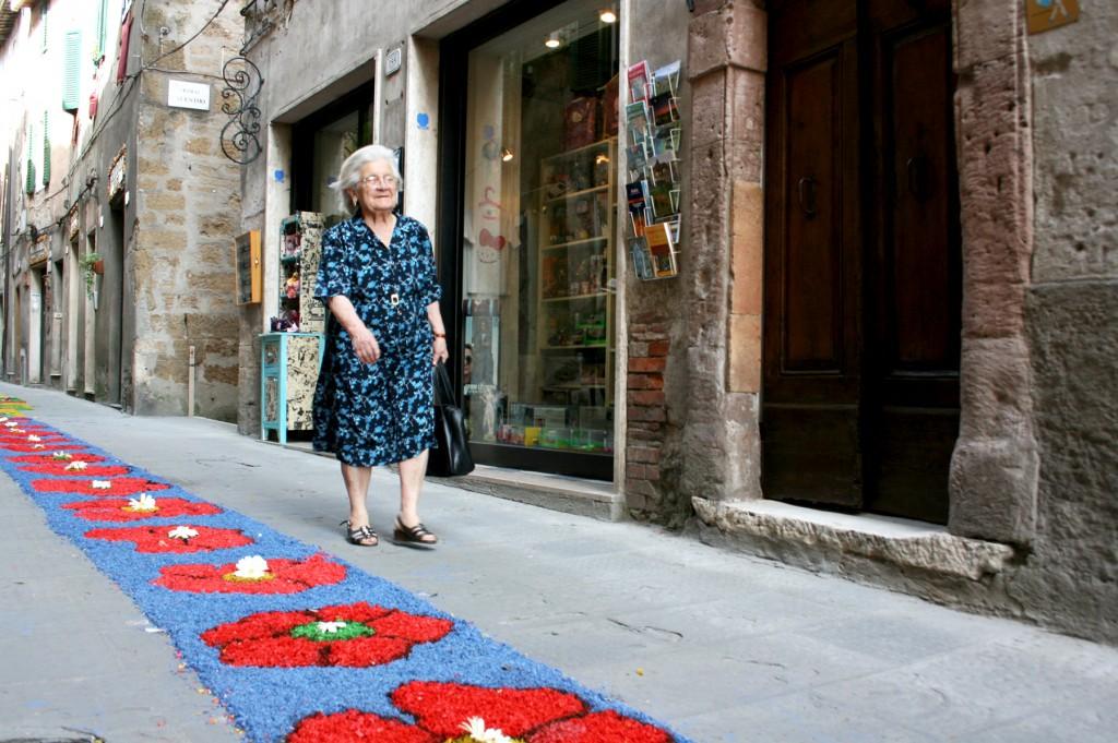 Nonna at the Infiorata Pitigliano