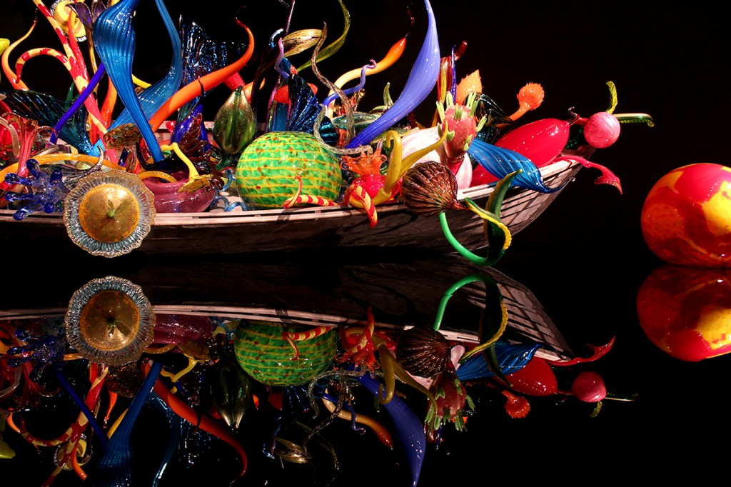 Chihuly boat in Seattle