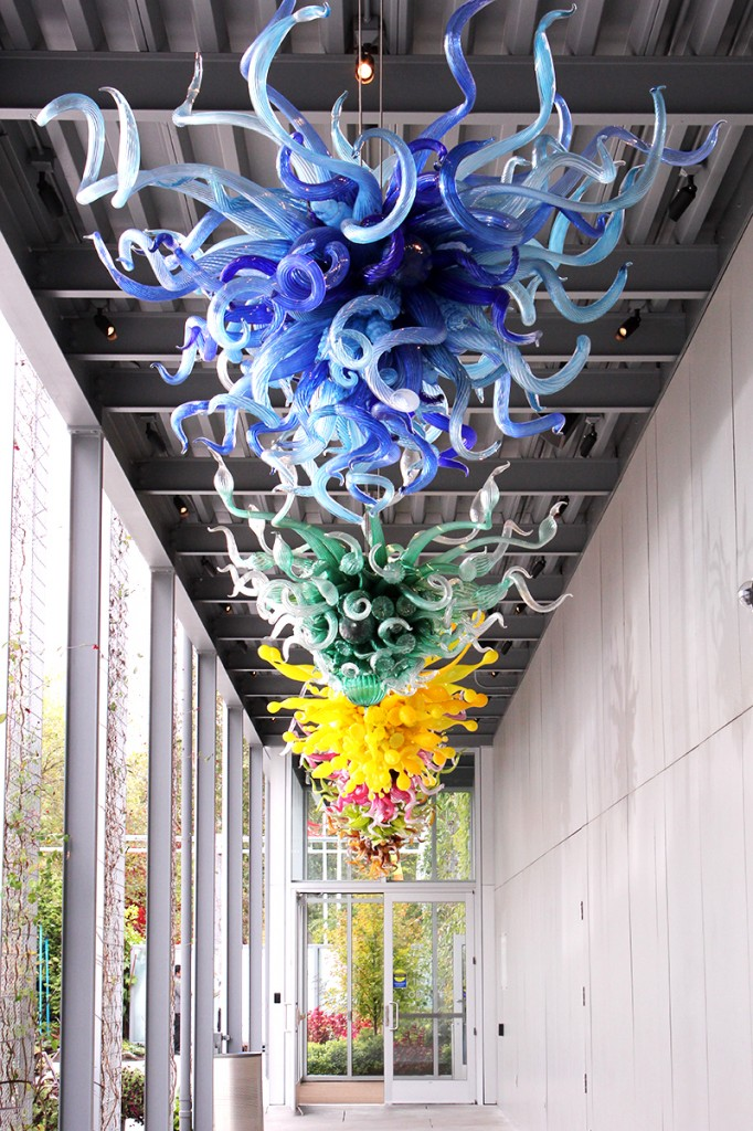 Chihuly chandeliers in Seattle 2