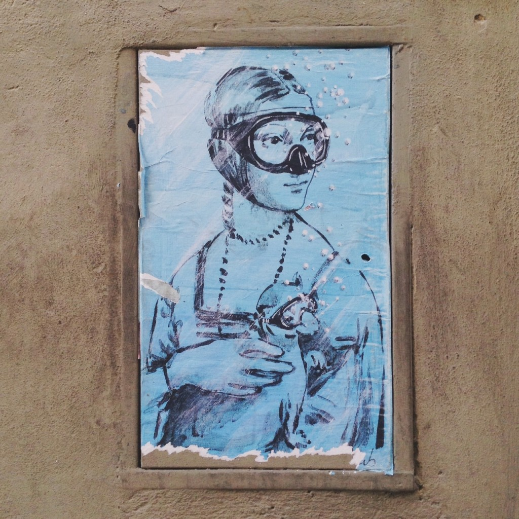 Blub Lady and ermine street art in Florence