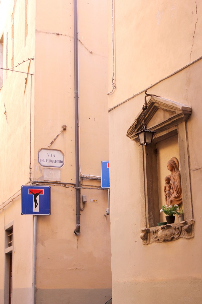 Clet street art in Florence