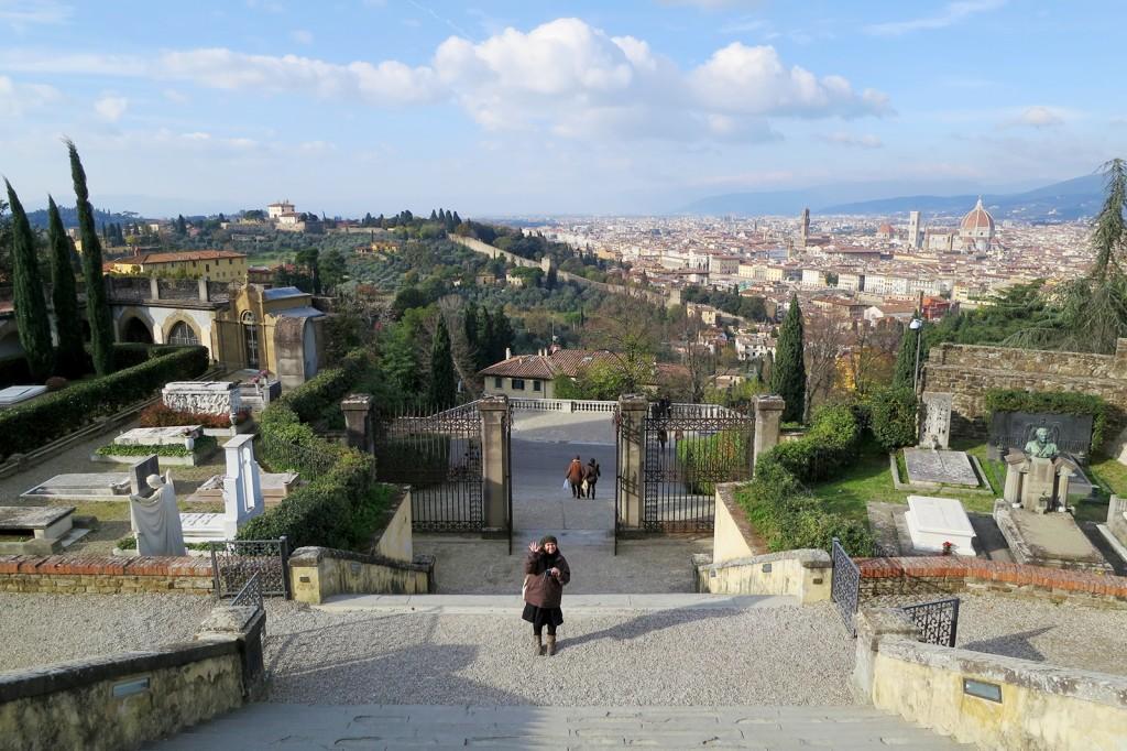 San Miniato al Monte kiss in Florence