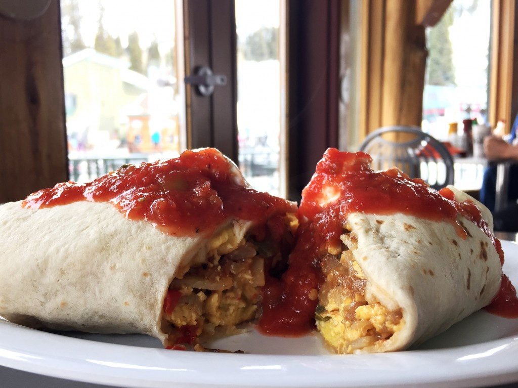 Breakfast burrito at Targhee