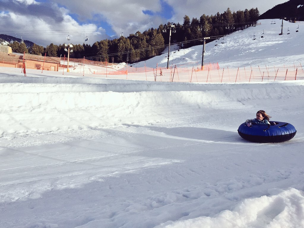 Tubing in Jackson Hole with family