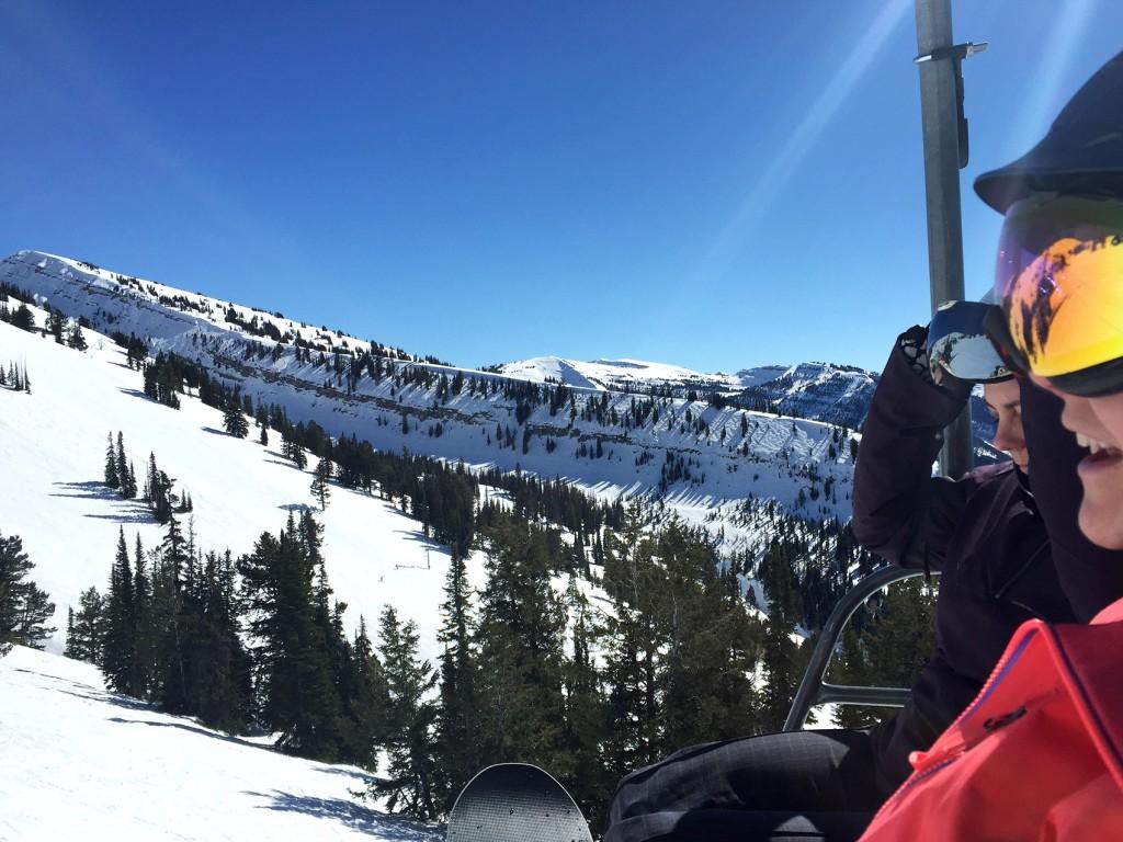 Snowboarding in Targhee