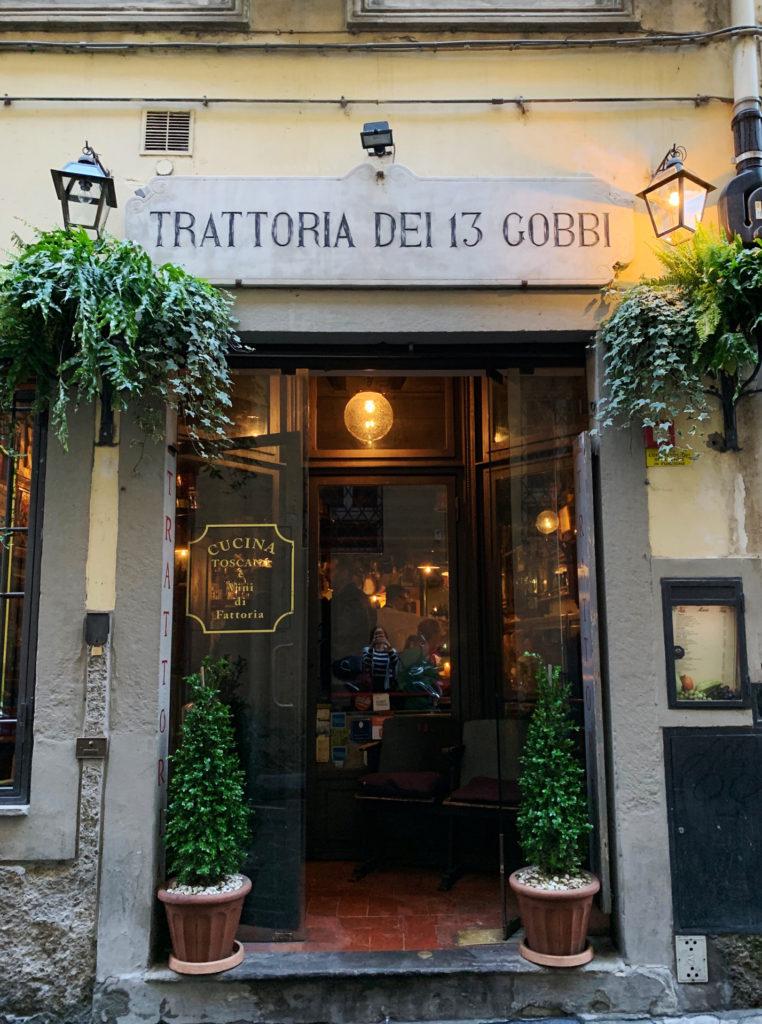 Trattoria dei 13 Gobbi in Florence Italy